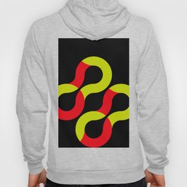 Some eight shaped curves, half red, half snake, rotating in an endless black space Hoody