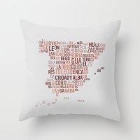 spain Throw Pillows featuring Spain by eneasmarin
