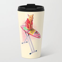 Hoverboard Cat Travel Mug
