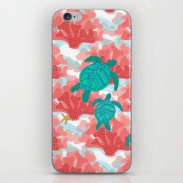Sea Turtles in The Coral - Ocean Beach Marine iPhone Skin