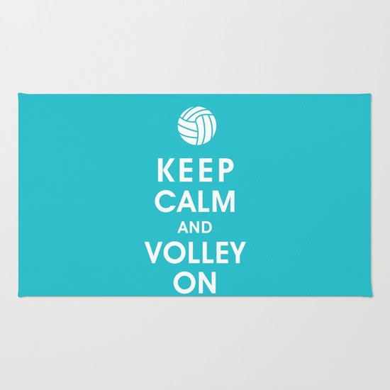 Keep Calm and Volley On (For the Love of Volley Ball) Rug