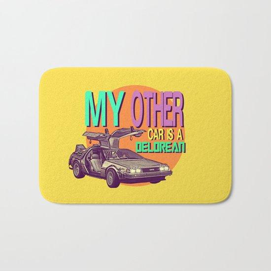 My Other Car Is A Delorean  |  Time Machine Bath Mat