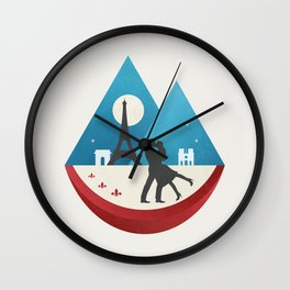 Le Baiser - French Kiss Wall Clock