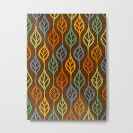Autumn leaves pattern I Metal Print