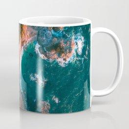 Aerial Sunset at Mcway Falls, Big Sur CA Coffee Mug