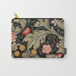 William Morris Laurel Multi-Colored Floral Textile Pattern Sunflower, Aster, Dahlia Carry-All Pouch