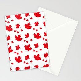 Canada Maple Leaf-Large-White Stationery Cards