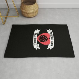 Volleyball Mom Gift Player Coach Family Rug