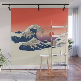 The Great Wave of Corgis Wall Mural