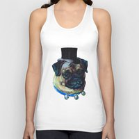 pugs Tank Tops featuring Sir Pugs by Bonnie J. Breedlove