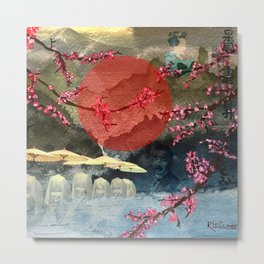 Japanese Ethereal Collage Metal Print