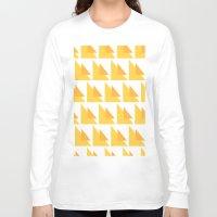 orange pattern Long Sleeve T-shirts featuring Orange Pattern by MarianaLage