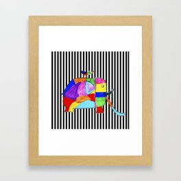 Rainbow Elephant by Elisavet   #society6 Framed Art Print