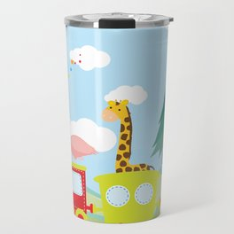 Animals Train , Nursery decor Travel Mug