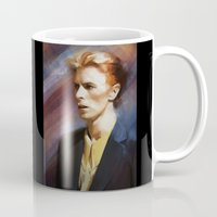 bowie Mugs featuring Bowie by Cristina Sandia