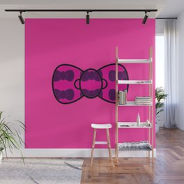 Pink bow filled with purple bows Wall Mural