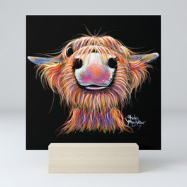 Scottish Highland Cow ' iRN BRoo ' by Shirley MacArthur Mini Art Print
