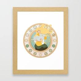 Goose Girl Framed Art Print