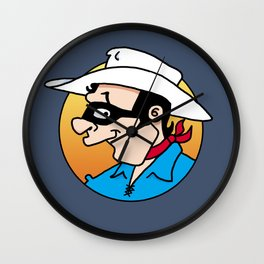 Marshal Mask Wall Clock