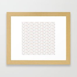 Vintage Bike Pattern Framed Art Print