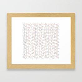 Vintage Bike Pattern Framed Art Print