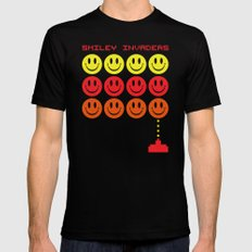 Smile Invaders Gaming Quote Black Mens Fitted Tee MEDIUM