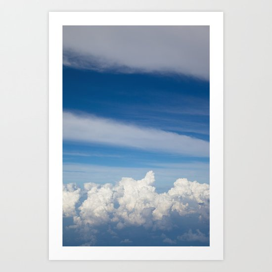 My bed of white and blue Art Print