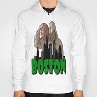 boston Hoodies featuring BOSTON  by Robleedesigns