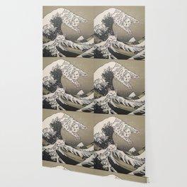 Kanagawa Cat Wave Wallpaper
