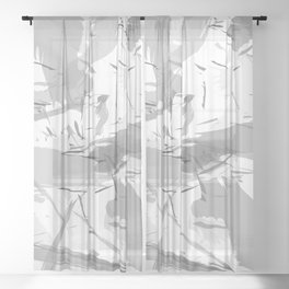 Abstract composition. Creative chaos Sheer Curtain