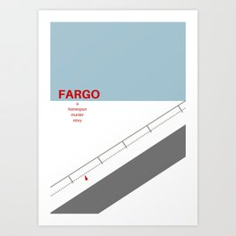 Fargo minimalist poster Art Print