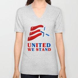 United We Stand - Patriot/Independence Day Unisex V-Neck