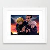 hunter x hunter Framed Art Prints featuring Hunter x Hunter: Forever by akayashi