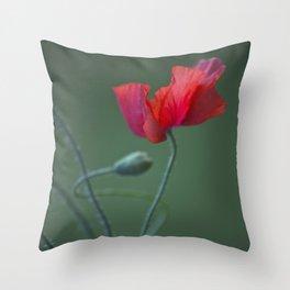 Red Poppy Dance #decor #society6 Throw Pillow