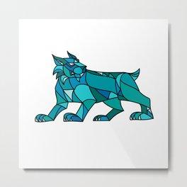 Bobcat Prowling Mosaic Metal Print