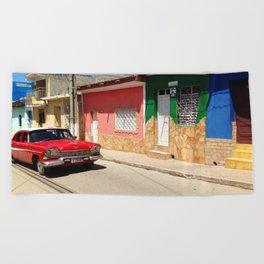 Cars in Cuba Beach Towel