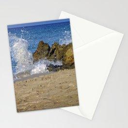 Frothy Spray on Rocks Stationery Cards