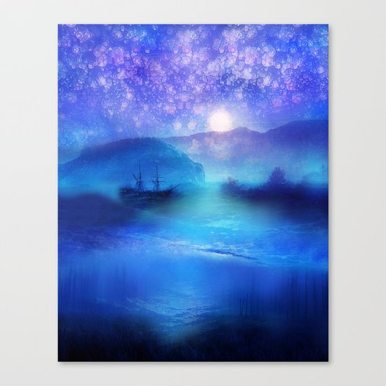 Fantasy in Blue. Canvas Print