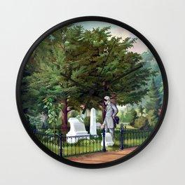 Robert E. Lee Visits Stonewall Jackson's Grave Wall Clock
