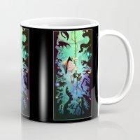 brad pitt Mugs featuring The Pitt by Richtoon