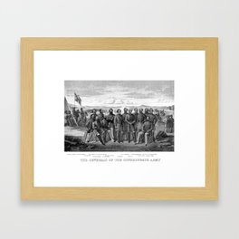 The Generals Of The Confederate Army Framed Art Print