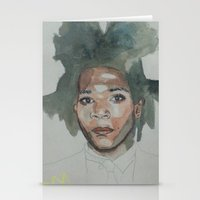 basquiat Stationery Cards featuring Basquiat by Danielle Lima