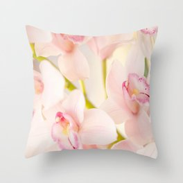 Orchid Flower Bouquet On A Light Background #decor #society6 #homedecor Throw Pillow