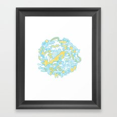 Spaghetti Mountain Framed Art Print