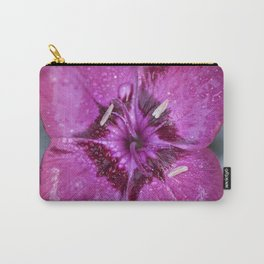 Square Dianthus Carry-All Pouch