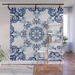 blue garden mandala Wall Mural