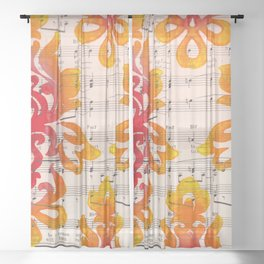 Wild Damask Sheer Curtain