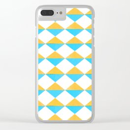 Diamonds Soles Shoes Yellow Blue Clear iPhone Case