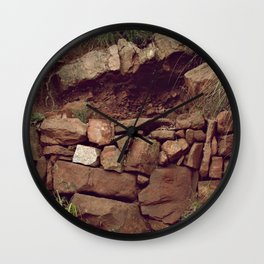Red rocks in the forest II Wall Clock