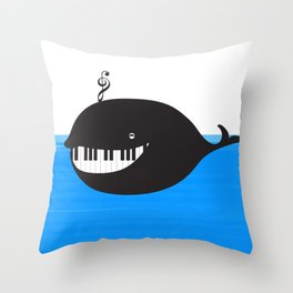 whale  (water proof piano!) Throw Pillow